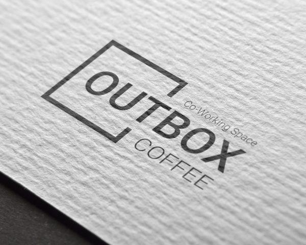 outbox coffee logo minimal